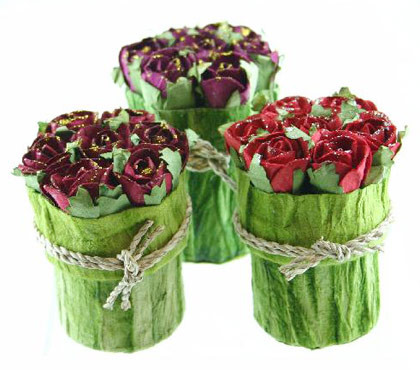 Mini Rose Bunch Box with Glitters
