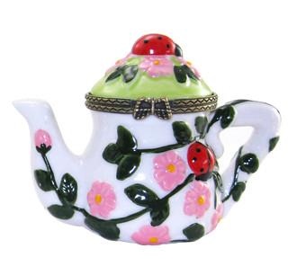 Flowery Teapot Trinket Box