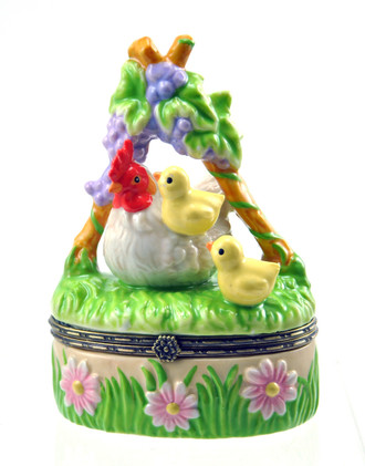 Ceramic Little Chics Trinket Box