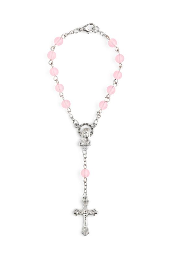 Rosary Bracelet Pink