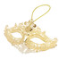 Miniature Masquerade Mask Ornament Ornate Gold Side Shot