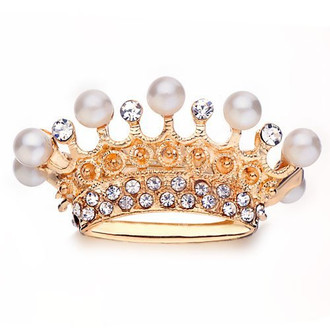Miniature 3d Royal Crown Gold Plated