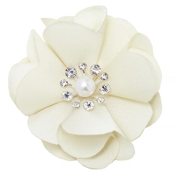 Chiffon Ivory Flower Embellishment