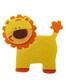 Lion Embellishment Made of Felt-Yellow and Orange