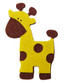 Giraffe Embellishment Made of Felt Brown and Yellow