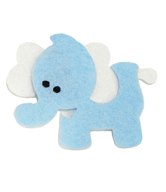 Elephant Embellishment-Blue and White