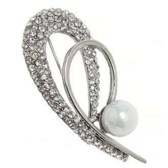 Rhinestone Brooch Teardrop Shape