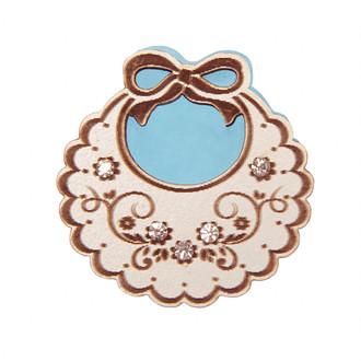 Baby Apron Embellishment Blue