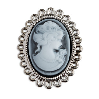 Cameo Blue-White Embellishment