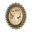 Cameo Brown-Ivory Embellishment