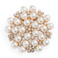 Brooch Pearl Rhinestone-Gold Plated
