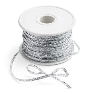"Metallic Silver Ribbon 1/8""x100Y"