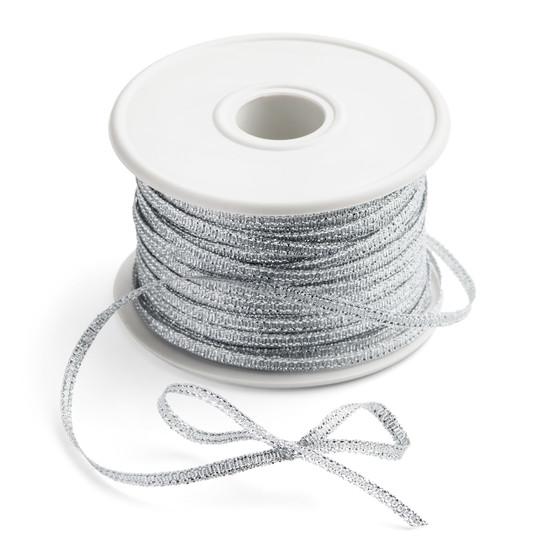 "Metallic Silver Ribbon 1/8""x100Y"