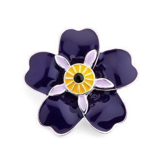 Forget me not Armenian Pride Flower Brooch