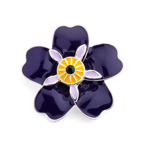 Forget me not Armenian Pride Flower Brooch