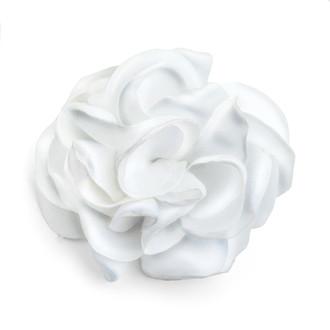 White Chiffon Rosette Embellishment
