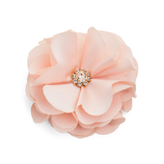 Peach Chiffon Flower Embellishment/Set of 12 PC