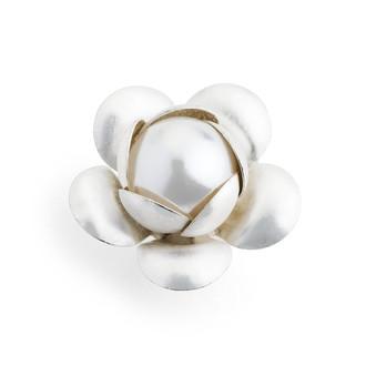 Silver Tone Blossom Embellishment