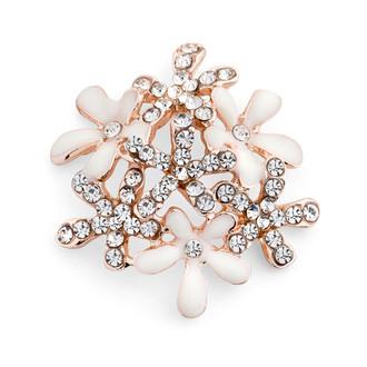 Sparkling Rhinestone Floral Embellishment