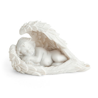 Sleeping Miniature Angel Figurine