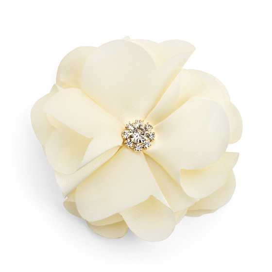 Chiffon Flower Rhinestone Embellishment