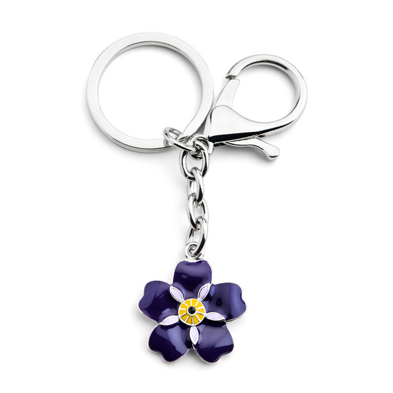 Forget me not Armenian Pride Flower Keychain