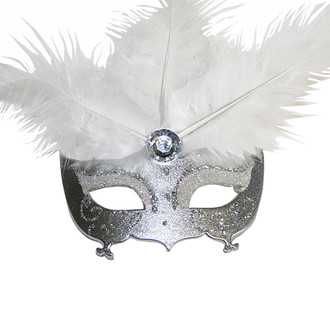 Masquerade Mask Ornament-Silver
