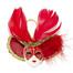 Miniature Masquerade Mask Ornament/Red