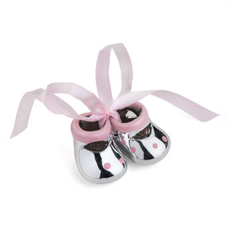 Miniature Baby Booties Favor Pink