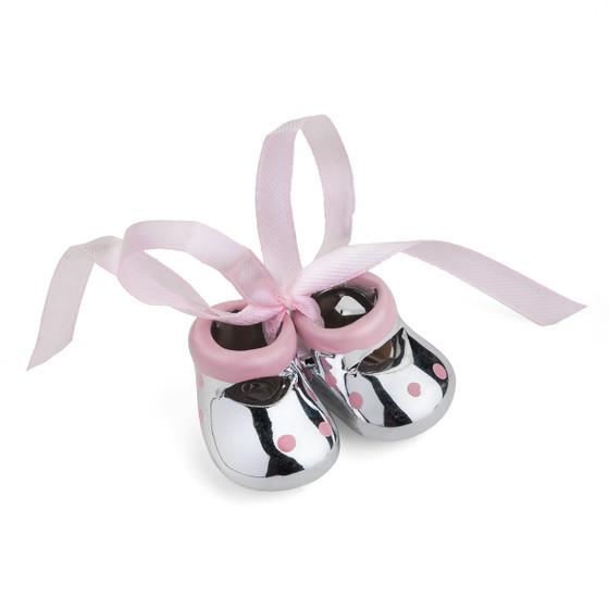 Miniature Baby Booties Favor Pink
