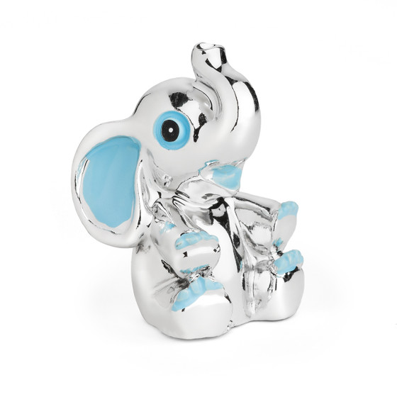 Resin Chrome Plated Blue Elephant