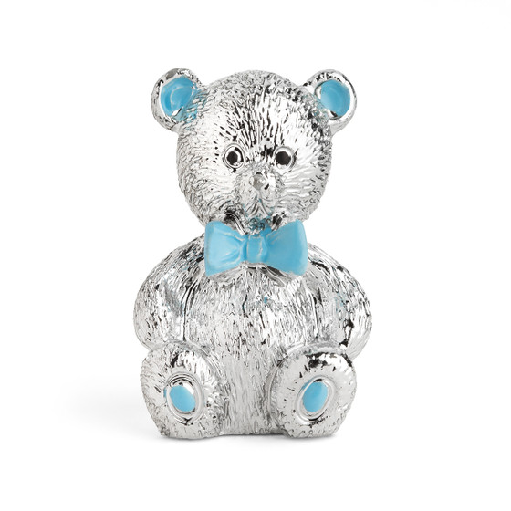 Resin Chrome Plated Blue Bear
