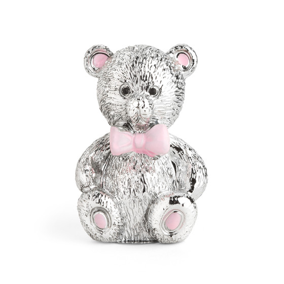 Resin Chrome Plated Pink Bear