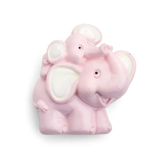 Resin Magnet Elephant Embellishment/12 Pc-pink