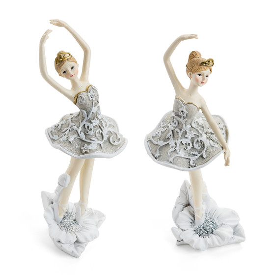 Dancing Ballerina Figurines/Set of  2