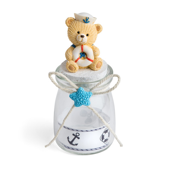 Candy Jar w/Nautical Bear Theme