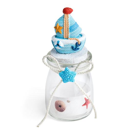Candy Jar w/Sailor Boat