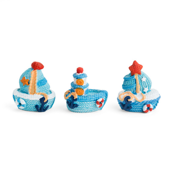 Resin Sailing Boat 3D Motift/Asst. of Three Different Designs