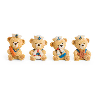 Resin Sailor Teddy Bear 3D Motift/Asst. of 4 Different Designs