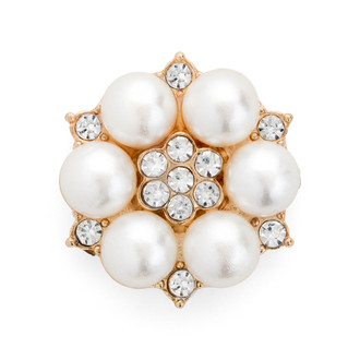 Pearl Embellishment Gold Plated