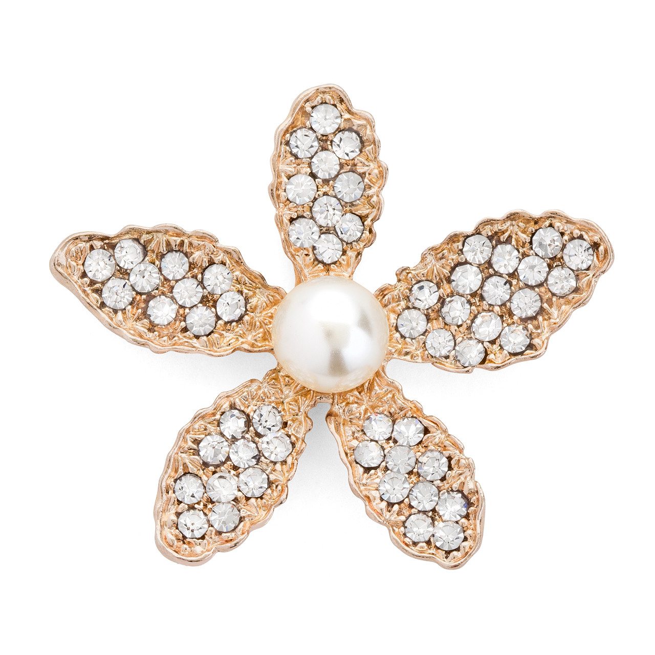 26a425963db Rhinestone Flower Embellishment in Rose Gold- from www.FavorVillage.com