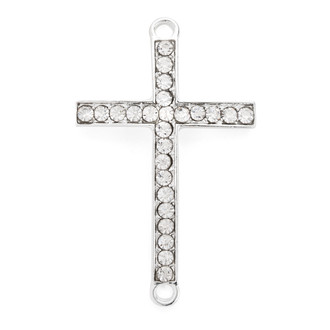 Cross Bracelet  Silver Plated