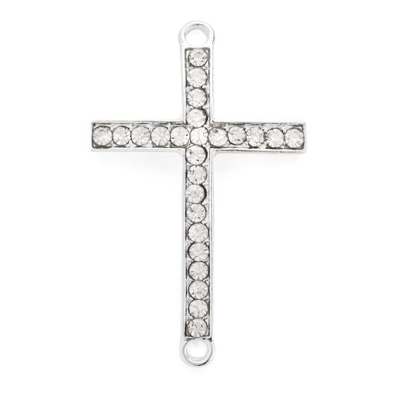 Cross Bracelet  Silver Plated