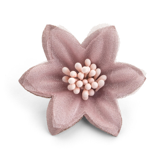 Starched Fabric Flower Dusty Rose