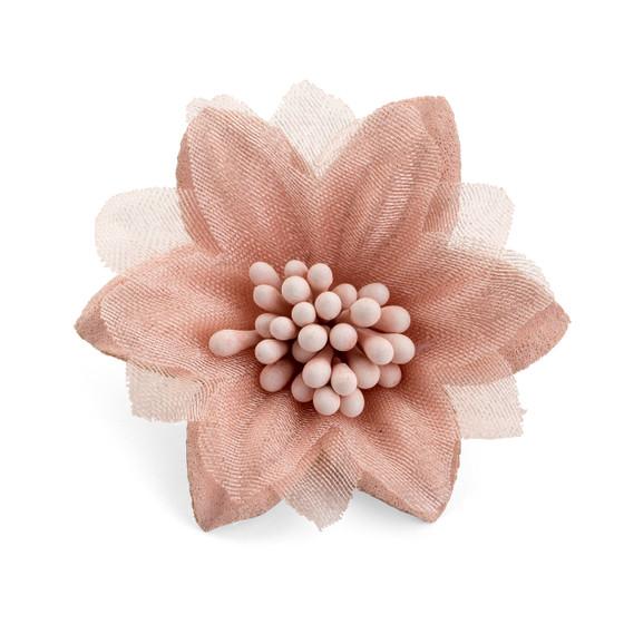 Peach Tulle Center Flower