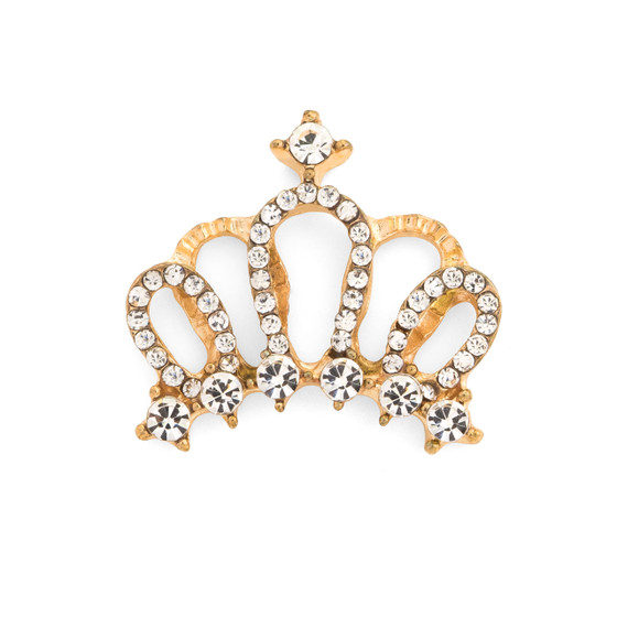 Flat Bed Crown with Rhinestones