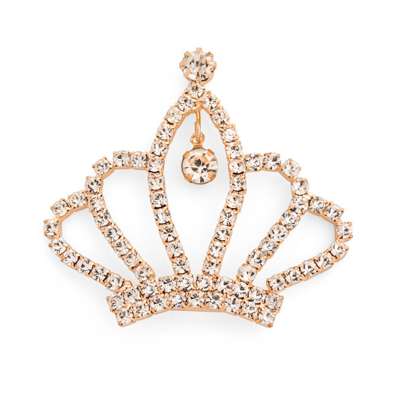 Flat Bed Fancy Crown with Rhinestones