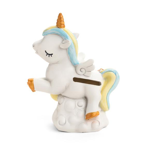 Unicorn Ceramic Blue Bank