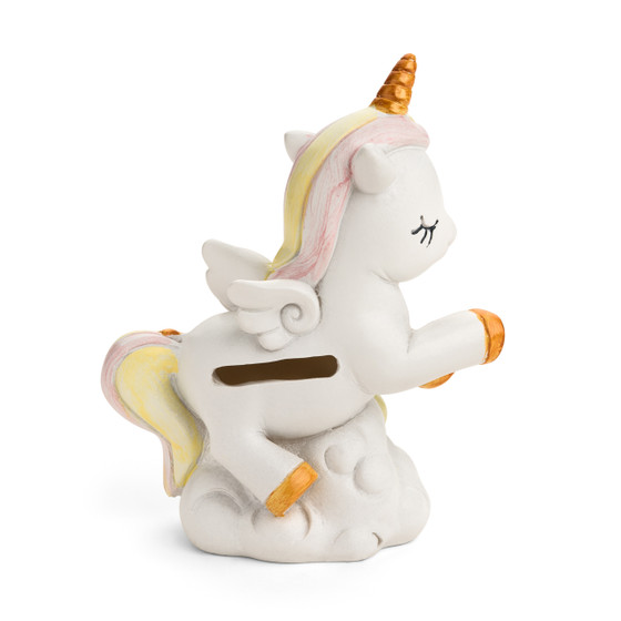Unicorn Ceramic Pink Bank Front View