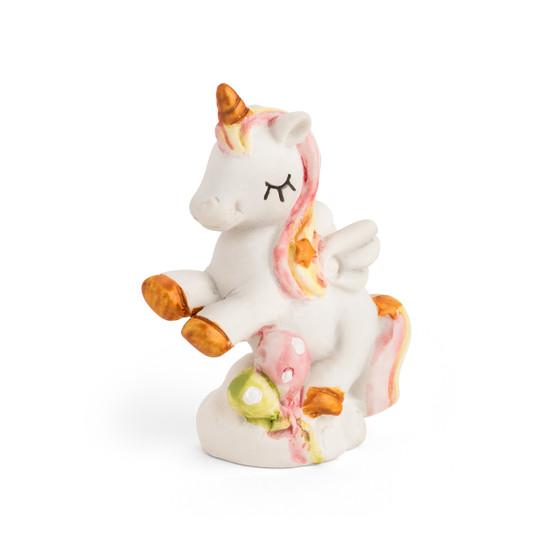 Baby Shower Unicorn Ceramic Pink Figurine Rainbow Colors